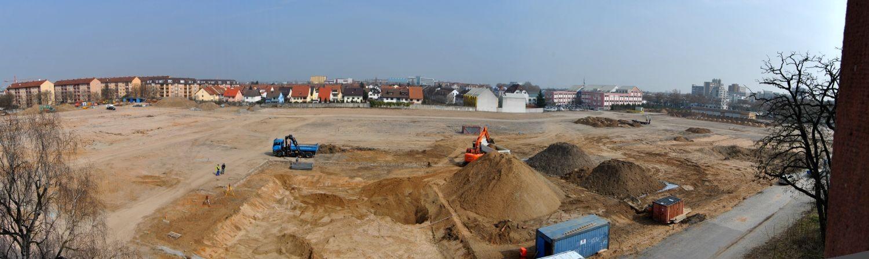 Panorame der Baustelle (24.03.2015)