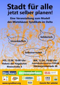 Gemeinsame Veranstaltungen Der Projekte Des Mietshäuser Syndikats Im  Rhein Neckar Delta